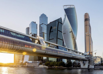 Moderne Architektur in Moskow City, Moskau