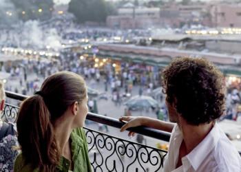 Blick auf den Gauklerplatz in Marrakesch