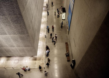 Am 9/11 Memorial in Manhattan, New York