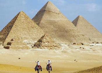 Die Pyramiden von Gizeh in Ägypten