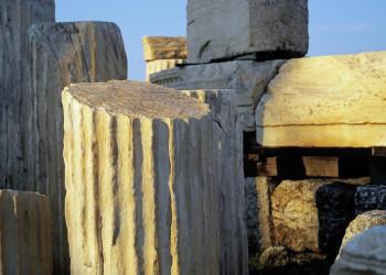 Säulen auf der Akropolis in Athen
