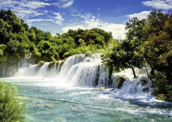 Die Krka-Wasserfälle in Kroatien
