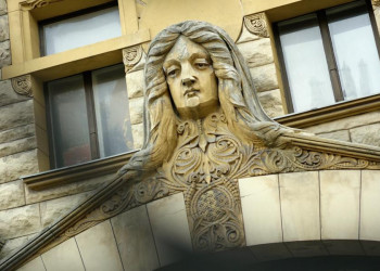 Jugendstilfassaden in Riga