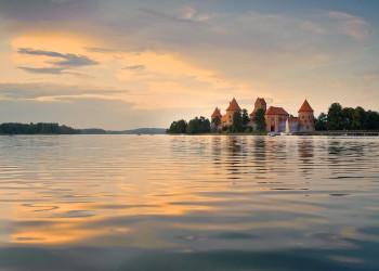 Seengebiet um Trakai in Litauen