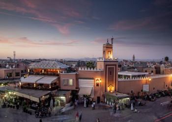 Der Djemma el-Fna (Gauklerplatz) in Marrakesch