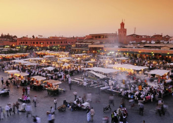 Der Djemaa el-Fna in Marrakesch