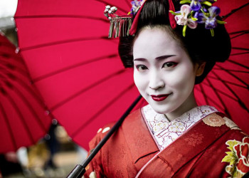 Eine Geisha in Japan