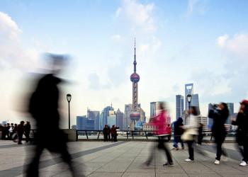 Uferpromenade Bund in Shanghai