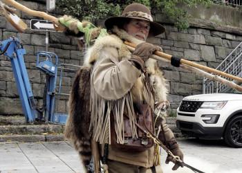 Ein Trapper in Kanada