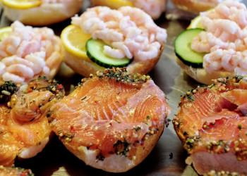 Lachs und Krabben müssen wir in Norwegen unbedingt probieren!