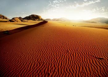 Magisches Licht im Wadi Ram in Jordanien
