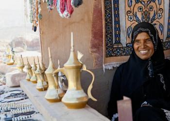 Souvenirhändlerin in Petra