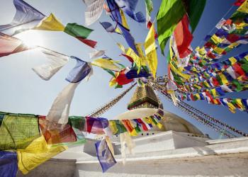 Der Stupa von Bodnath im Kathmandutal in Nepal
