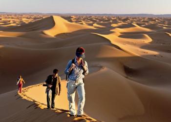 Sanddünen der Sahara beim Erg Chebbi