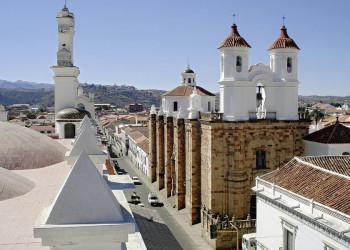 Die Altstadt von Sucre in Bolivien