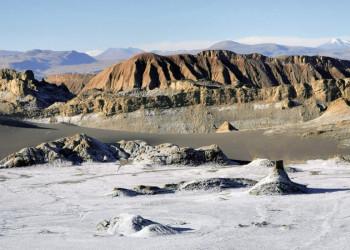 Die Atacamawüste in Chile