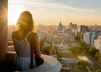 Die Innenstadt von Buenos Aires in Argentinien