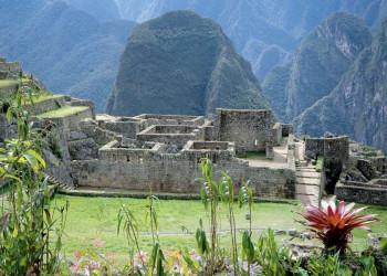 Die Inkafestung Machu Pichu in Peru