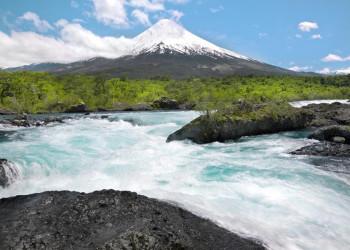 Chilenisches Seengebiet: Blick auf den Vulkan Osorno