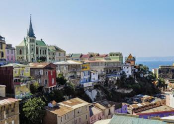 Die Hafenstadt Valparaíso in Chile