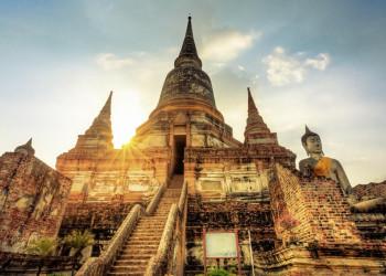 Der Tempel Wat Phra Si Sanphet in Ayutthaya