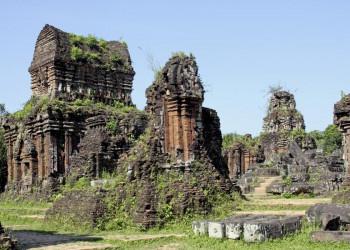 Die Tempelruinen von My Son (UNESCO-Welterbe) in Vietnam