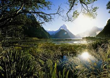 Maitre Peak am Milford Sound, Neuseeland