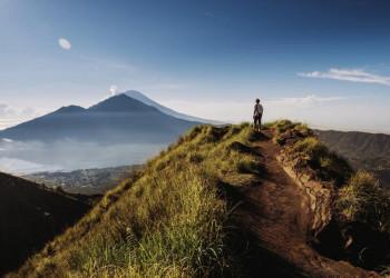 Ein beindruckendes Panorama: der Mount Batur auf Bali