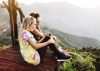 Gemeinsam unterwegs im Hochland am Atitlánsee, ringsum Vulkane und prächtige Ausblicke