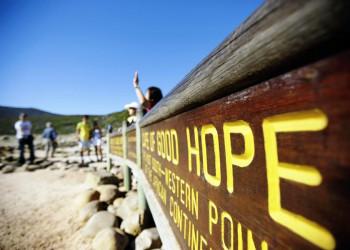 Die Reise endet standesgemäß am Kap der Guten Hoffnung