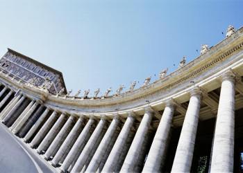 Die Kolonnaden am Petersplatz in Rom