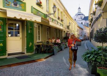 Die Stikliu Gatve in Vilnius