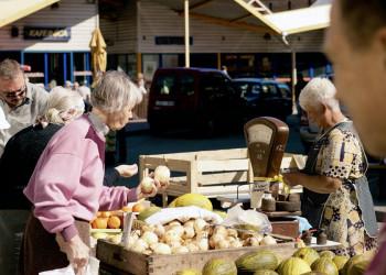 Auf dem Markt in Riga