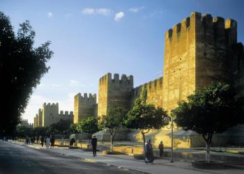 Die Stadtmauer von Marrakesch