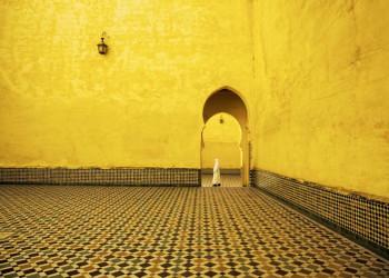 Innenraum einer Moschee in Marokko