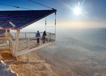 Blick auf die Wüste Negev