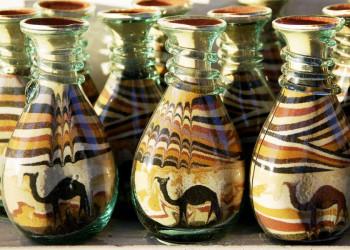 Sandiges Souvenir aus Jordanien