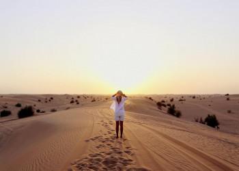 Sonnenuntergang in der Wahiba Sands