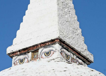 Stupa mit Augen in Bhutan