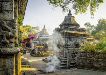 Der Hindutempel Pashupatinath in Kathmandu