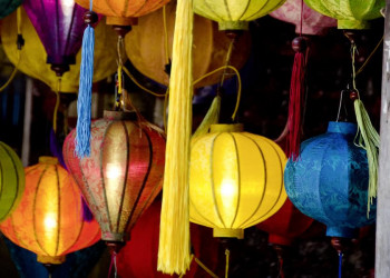 Bunte Laternen in der Altstadt von Hoi An