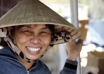 Freundliche Menschen empfangen Sie in Südostasien!