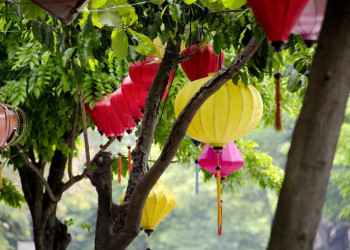 Bunte Lampions in Hoi An