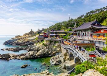Die Hafenstadt Busan in Südkorea