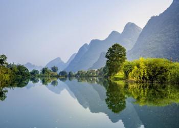 Flusslandschaft bei Yangshuo