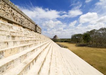 Die Adivino-Pyramide in Uxmal, Mexiko