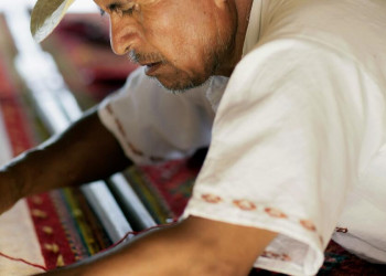Teppich-Webkunst in Mexiko