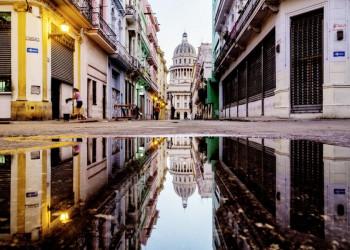 Blick auf das Capitolio in Havanna