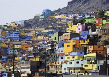 Die bunten Häuser von San Cristobal in Lima
