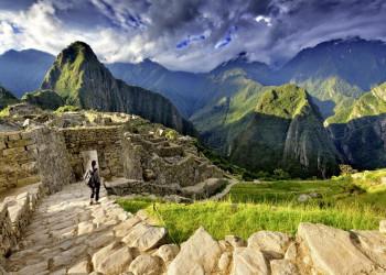 Die Ruinen der Inkastadt Machu Picchu